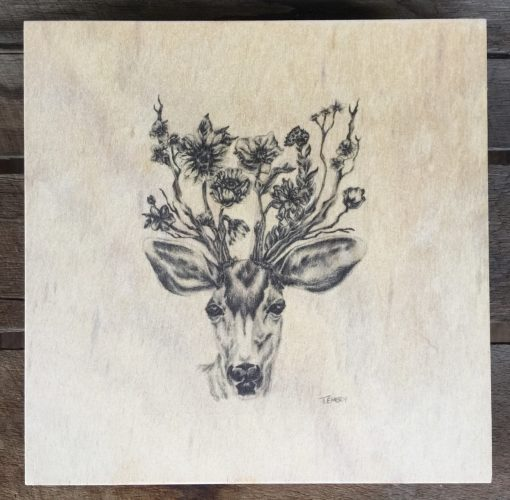 Deer plywood illustration